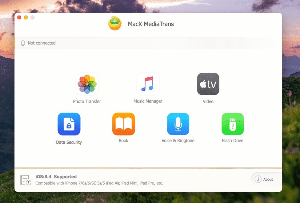 MacX MediaTrans on macOS
