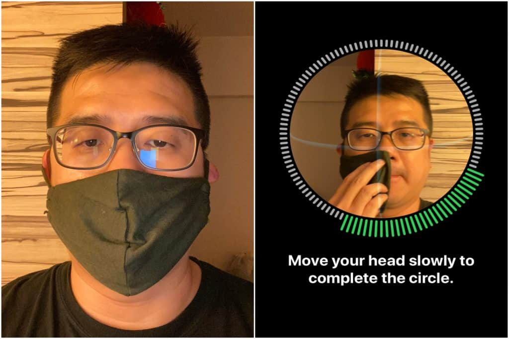 FaceID while wearing a mask