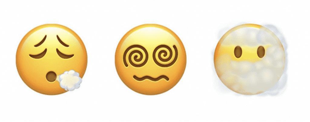 iOS 14.5 emojis in close up