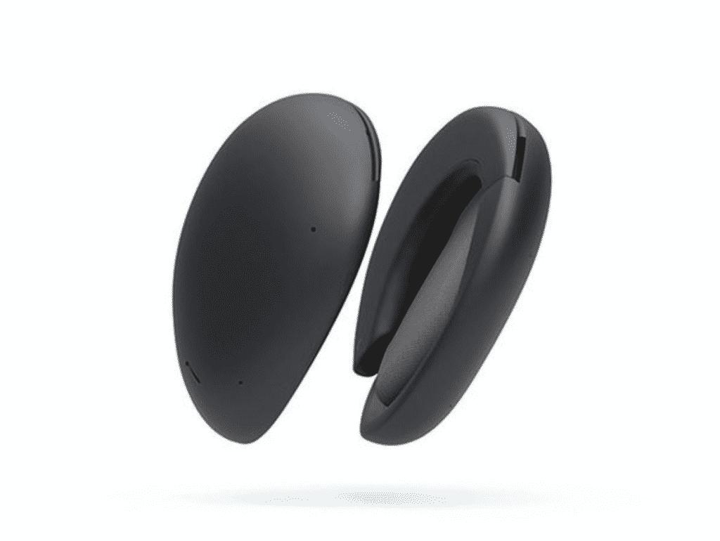 Hybrid True Wireless Over-ear Headphones in black color