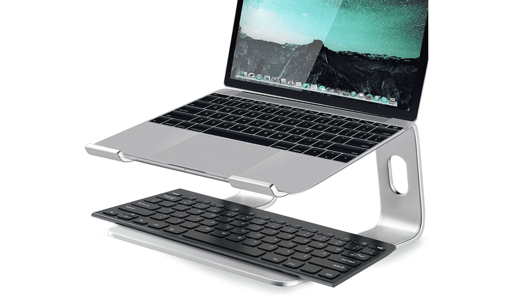 Sturdy and Stylish Aluminum Stand for Your MacBook