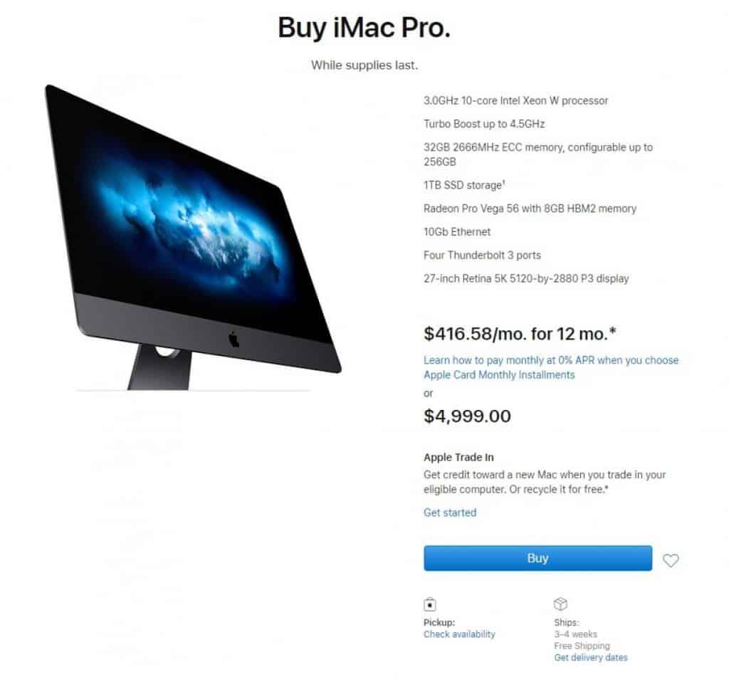 iMac Pro supplies