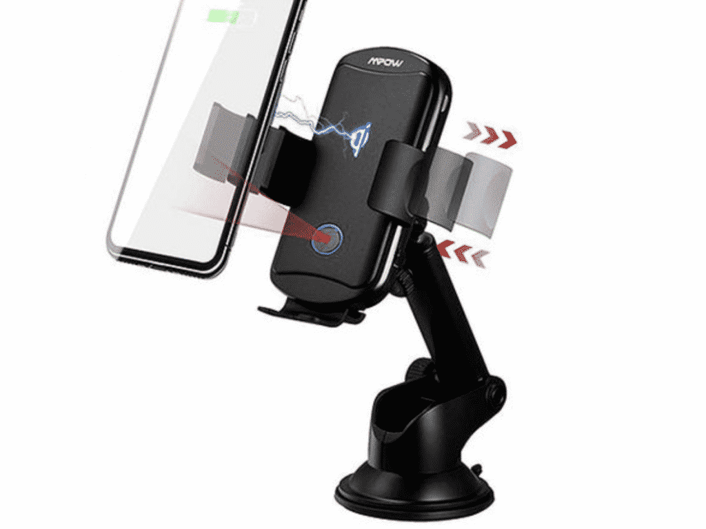 MPOW Universal Wireless Charging Car Mount in close up