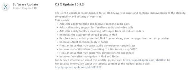 Apple OS X Mavericks 10.9.2 Update