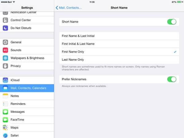 iOS 7: Displaying Shortened Names