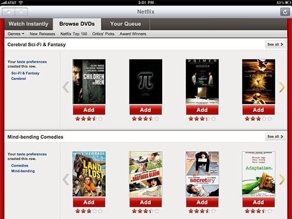 iPhone + iPad Gems: Articles, Hulu Plus, Netflix + Times for iPad