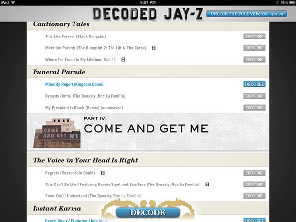 Review: Random House Digital Decoded by Jay-Z