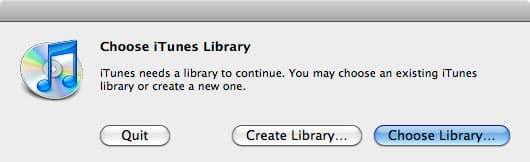 Restoring iTunes to an external hard drive