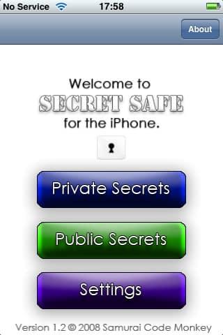 Review: Secret Safe v1.2 by Samurai Code Monkey
