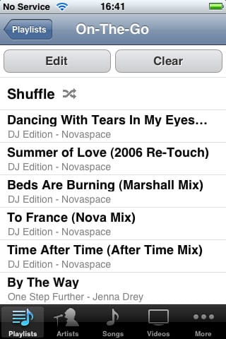 Managing and syncing iPod touch On-The-Go playlists