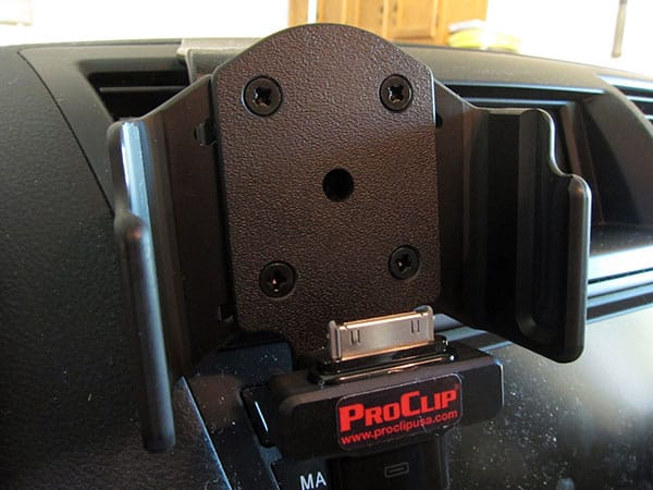 First Look: ProClip Adjustable Holder With Tilt Swivel + Pass-Through Connector For iPhone 4