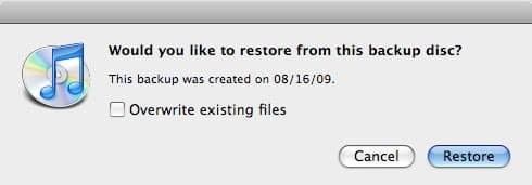 Downgrading to iTunes 7