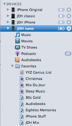 Managing iPod content manually