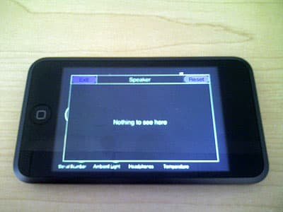 iPod touch diagnostic mode, revealed in pictures