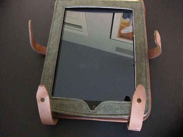 Preview: Temple Bags Leather + Re-Purposed Canvas iPad Cases