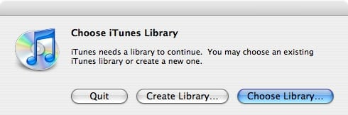 Multiple iTunes libraries