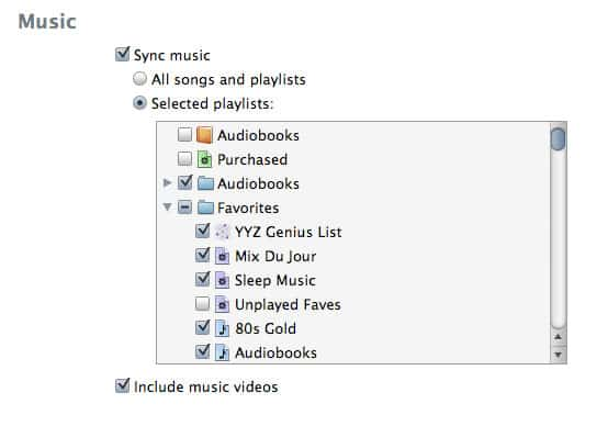 Syncing videos to iPod touch