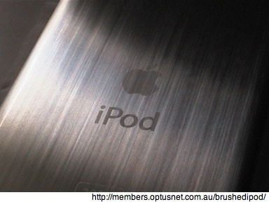 Dealing with a scratched iPod backing