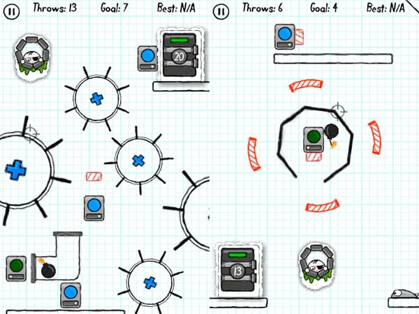 iPhone Gems: Doodle Bomb, Isaac Newton's Gravity + Tumbledrop