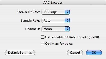 Converting tracks to mono in iTunes