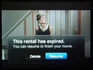 iTunes movie rental expiry on iPods