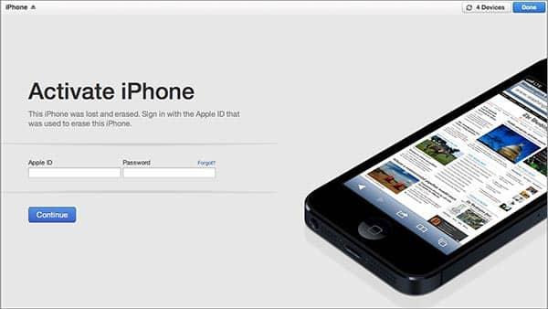 iOS 7: Activation Lock + Find My iPhone