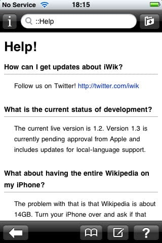 iPhone Gems: Wikipedia Apps