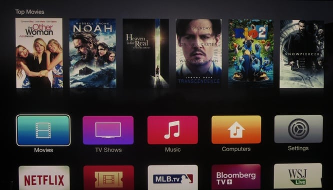 New Apple TV beta changes icons, fonts to iOS 7 style