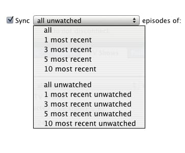 iTunes Other category and TV show syncing