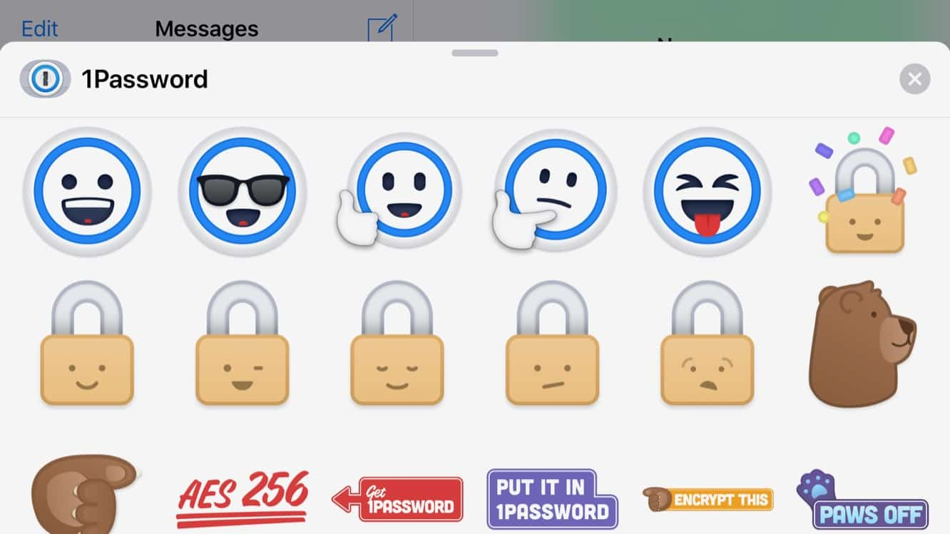 1Password gets Markdown support in Secure Notes, iMessage stickers