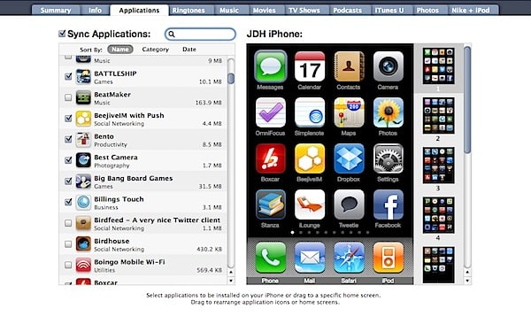 Recovering iPhone apps