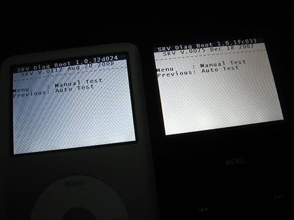 iPod nano 4G and 120GB iPod classic Diagnostic Modes