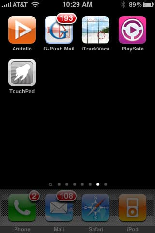 Weird + Small Apps 27: Anitello, G-Push Mail, iTrackVacaTime, PlaySafe + TouchPad