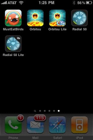 iPhone Gems: Must.Eat.Birds, Radial 50 + Orbitsu