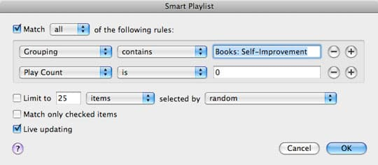 Organizing audiobooks