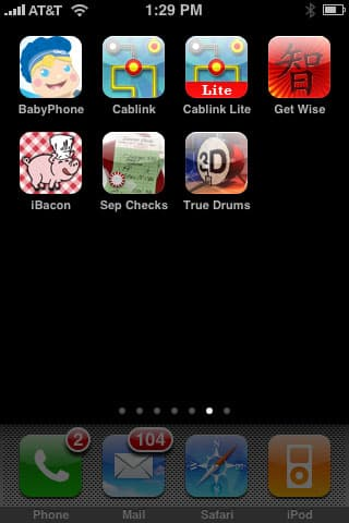 Weird + Small Apps: BabyPhone, Cablink, Get Wise 'r Die Tryin', iBacon, Separate Checks, True Drums