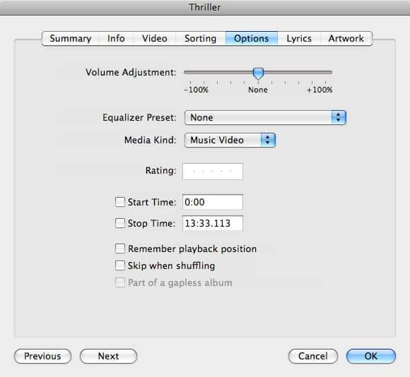 How iTunes organizes music videos