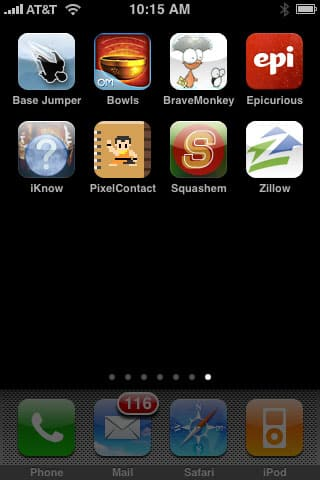 Weird + Small Apps: Base Jumper, Squashem, Bowls, iStoryTime, Epicurious, Zillow, iKnow + More