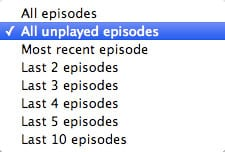 Auto-deleting played podcasts