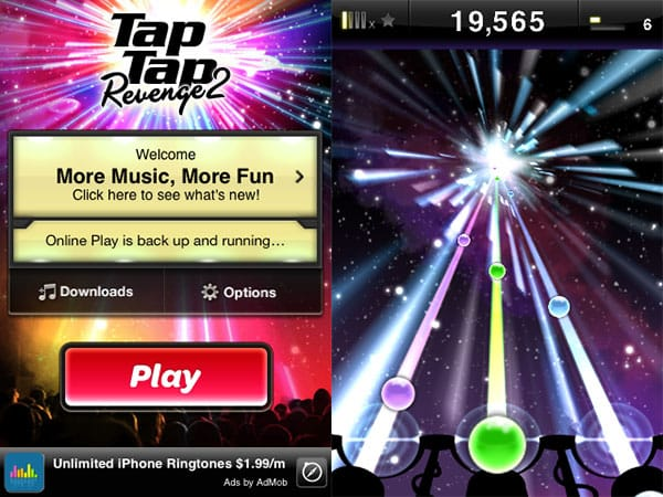 iPhone Gems: Tap Tap Revenge 2, DanceDanceRevolution S, iNinja, Magnetic Joe + Sky Force Reloaded