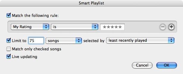 Size of Smart Playlists