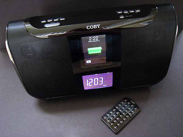 Review: Coby CS-MP165 Digital Boombox for iPod