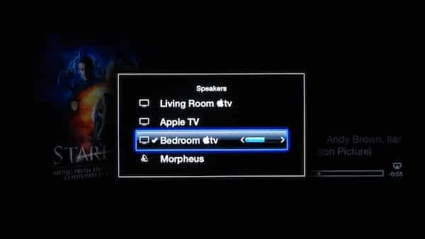 Sending audio to AirPlay speakers from an Apple TV