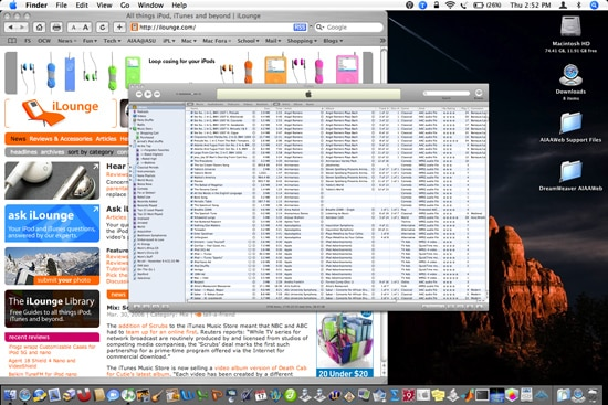 Viewing more iTunes data on the screen at once
