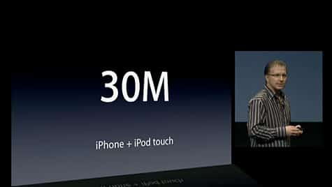 iPhone OS stats: 30M devices, 25k apps, 800m downloads, 96% approved