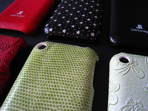 First Look: JAVOedge Leather and Rubberized Bottom Covers for Apple iPhone
