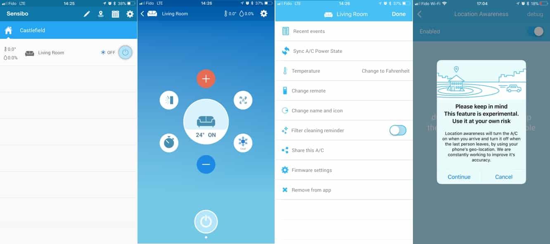 Review: Sensibo Sky Smart Air Conditioner Interface