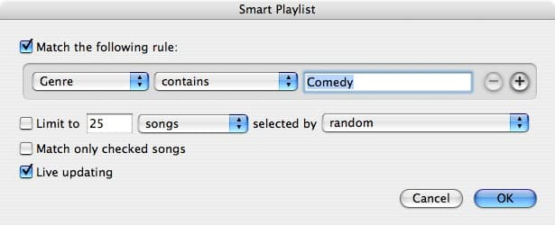 Smart playlists and sort order