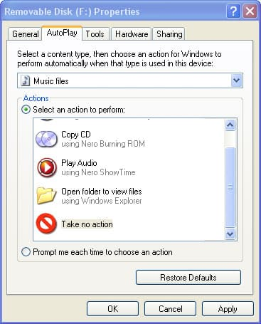iPod and Windows Autoplay