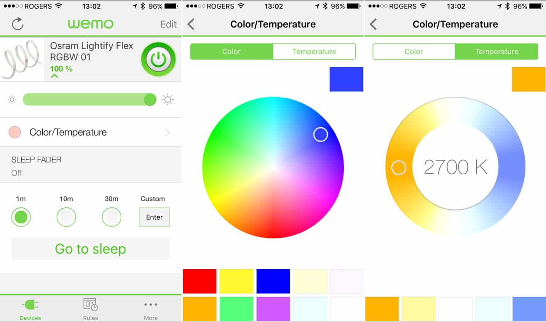 Review: Belkin WeMo + OSRAM Lightify Flex RGBW Starter Set